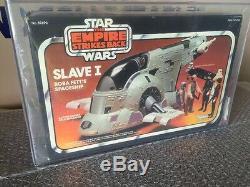 Kenner Star Wars Vintage 1981 Boba Fett Esclave 1 Véhicule Afa 75 Scellé À L'usine