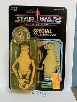 Kenner Vintage Star Wars Le Pouvoir De La Force Amanaman 1984 Moc 92 Retour Unpunched