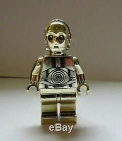 Lego Star Wars Chrome Or C3po 1/10000 Authentique Sw158 Près Impeccable C3p0 C3po
