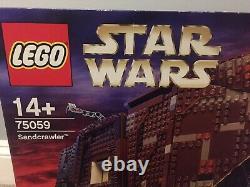Lego Star Wars Sandcrawler Ucs (75059) Toute Nouvelle Usine Scellée Ensemble À La Retraite