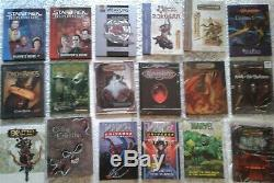 Lot De 98 Rpg Livres- D & D, Star Wars, Le Seigneur Des Anneaux, Marvel, Poo Classique Vintage, Ln