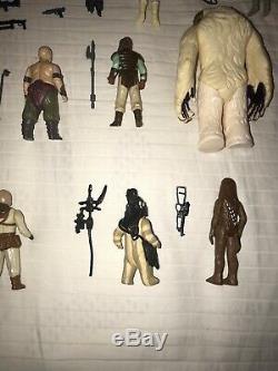 Lot De Figurines Star Wars 35 Vintage 1977-1984 Avec Armes Originales Et Supplémentaires