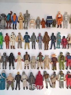 Lot De Figurines Vintage Star Wars First 77 Figures Différentes 1977 -1983 Kenner