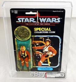Luke Cardée Par Cru De Star Wars Potf (pilote De X-wing) Afa 80+ Y-nm # 11151117
