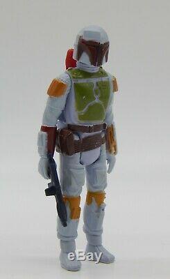 Millésime 1979 Star Wars Boba Fett L'action Figure Pbp Variante Meccano Tri Logo Rare