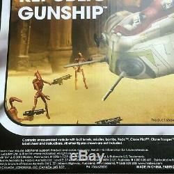 Mint République Gunship Nib Starwars Vintage Collection Attaque O / T Clones N. A4646