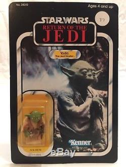 Moc Rotj Yoda Moc Vintage Star Wars, Le Maître Jedi, Unpunched 77, Par Kenner