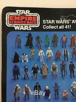 Moc Vintage Star Wars Boba Fett Avec Étui Acrylique Esb 41 Dos Kenner 1980