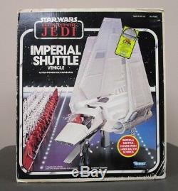 Navette Impériale 1984 Star Wars 100% Complet Vintage Originale Boîte W Inserts