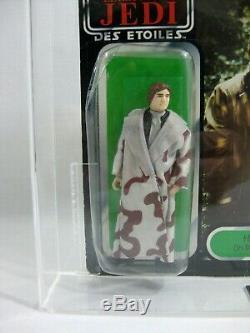 Nouveau 1983 Vintage Star Wars Han Solo Trench Tri-logo 79 Bk Ukg 70/65/80 Afa