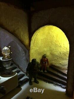 Personnalisez Le Diorama Palace De Jabba The Hutt's Star Wars Personnalisé Pour 3 3/4 Figures Vintage Jabba