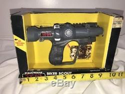 Pistolet Au Laser Biker Scout Laser 1983 Par Star Wars Rotj Vintage Kenner