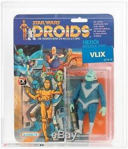 Plus Rare Figure Star Wars VLIX Afa Graded Série Droids Tv Vintage Moc