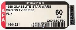 Plus Rare Figurine Star Wars VLIX Afa Graded Série Droids Tv Vintage Moc