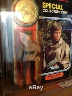 Poncho De Bataille Luke Skywalker Vintage Star Wars Potf Moc Afa 80