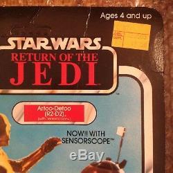 Portée Du Capteur Vintage Kenner R2-d2 Star Wars Sur Carte De Coupe Aucune Carte Pop 1983 Rotj 48