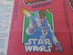 Poteau De Glace Glacée Star Wars Han Solo Popsicle Vintage Wrapper Pauls Toltoys Nouveau