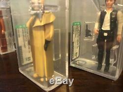 Premier Lot De Figurines 11/12 Vintage Star Wars Afa Graded. Tout Nouveau Style De Boîtier