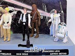 Présentoir De Courrier Star Wars Vintage Et Premières Figurines De 12 Figurines Kenner Look