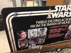 Présentoir Et Casier D'affichage De Magasin 12-arrière Vintage De Kenner Star Wars + 12-a Set Cardback