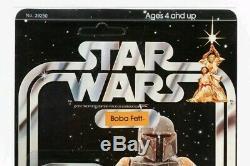Rare 1979 Star Wars Vintage 21 Retour Boba Fett Moc Afa 90 Unpunched Beauté