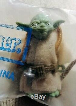Rare 1980 Star Wars Yoda Brown Serpent Kenner Mailer Scellé Baggie Vintage Figure