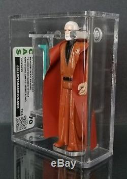 Rare! Sabre Télescopique Double Star Wars Vintage Obi Wan Kenobi Cas 70 Pas Afa