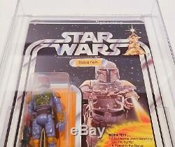 Rare! Star Wars Boba Fett Vintage 21 Retour Moc Afa 90 Nm +
