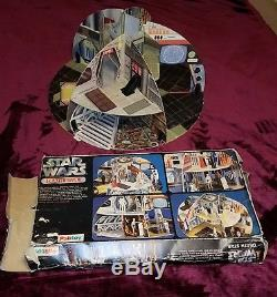 Rare Star Wars Vintage Palitoy Death Star Playset Avec La Boîte (98% Complète)