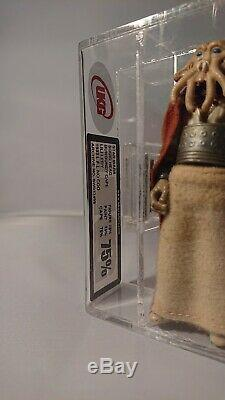 Rare Vintage Star Wars LILI Ledy Calmar Tête Cape Burgandy 75 Ukg Afa Graded Mint