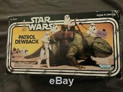 Rare Vintage Star Wars Patrol Dewback Dans La Boîte Originale! 1979 En Bonne Forme