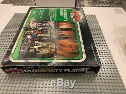 Rrare Vintage 1980's Star Wars Kenner Sears Exclusif Ville Cloud Playset Etui