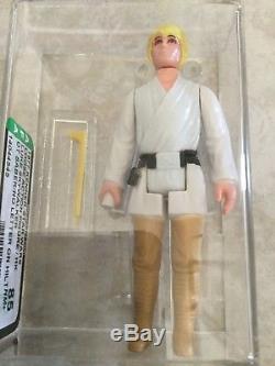 Sabre Télescopique Double Star Wars Luke Skywalker Vintage Dt Afa 85 Coa