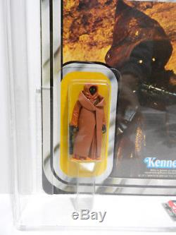 Star Wars 12 Retour A Vinyle Cape Jawa Figure Afa 80 Moc Vintage Kenner 1977