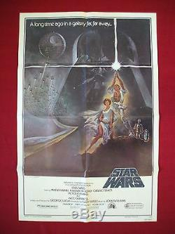 Star Wars 1977 Original Affiche Du Film Un Style Vintage Darth Vader Authentique Nm