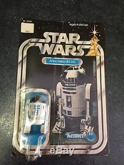 Star Wars 1977 R2 D2 Artoo Detoo Sur Carte Unpunched Vintage Vintage Moc
