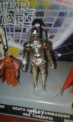 Star Wars 1977 Vintage Mail Away Présentoir Et Premier Lot De 12 Figurines