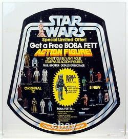 Star Wars 1979 Vintage Kenner Get A Free Boba Fett Bell Display Afa 90