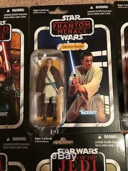 Star Wars Collection Vintage 10 Figurines Luke Vader Malkus Ackbar Maul Obi Wan