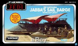 Star Wars Collection Vintage Haslab La Barge À La Voile De Jabba Avec Beaucoup De Bonus! Pré-commander