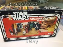 Star Wars Creature Cantina 1977 Action Ensemble De Jeu Kenner En Boîte Vintage