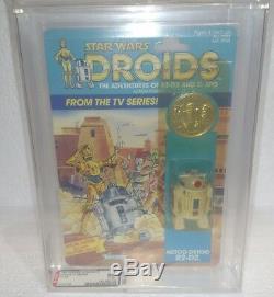 Star Wars Droids R2 D2 Vintage Kenner 1985 Afa 80 Classé