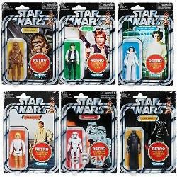 Star Wars - Ensemble De 6 Figurines Kenner Hasbro Collection Rétro Vintage