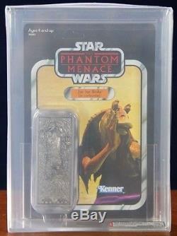 Star Wars Jar Jar Binks En Carbonite Afa 90 Sdcc 2012 Exclusif Vintage Rare