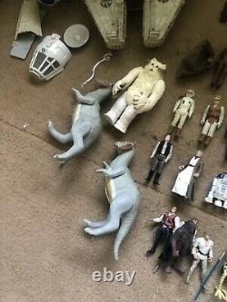 Star Wars Joblot Vintage Figures Véhicules Han Solo Millennium Falcon X-wing Yoda