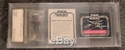 Star Wars Kenner Vintage Boba Fett Mailer / Courrier Afa 70 Baggie 1979