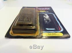 Star Wars Kenner Vintage Han Solo En Carbonite Punch Potf 1985 Last 17 Momc