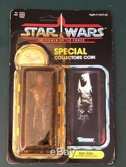 Star Wars Kenner Vintage Han Solo En Carbonite Punch Punch 1985 Last 17 Moc
