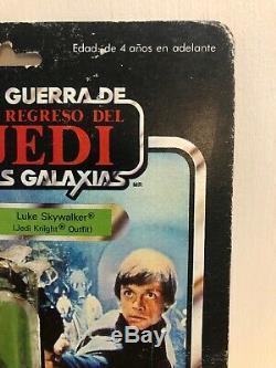 Star Wars LILI Ledy Luke Skywalker Jedi Vintage Kenner Cardback Afa Resceller Moc