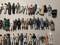 Star Wars Lot Vintage 1977-1985 Lot De 80 Figurines Differentes Armes Originales